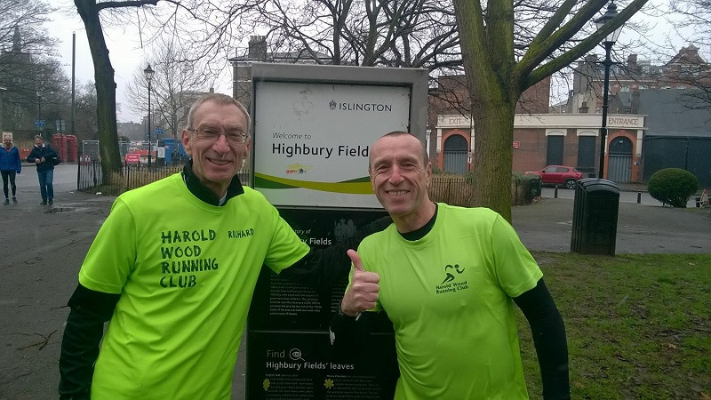 Richard & Brynley parkrun tourists - Highbury Fields